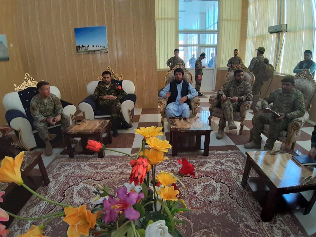 سفر مقامات نظامی افغانستان و ناتو به فراه