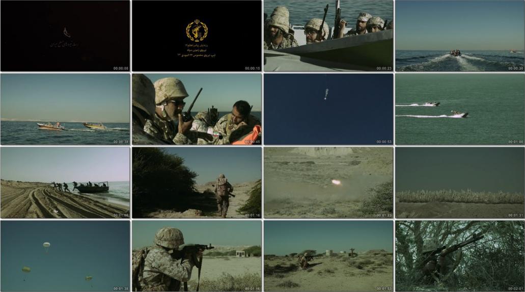 نمایش دیدنی از رزمایش پیامبر اعظم ۱۲ سپاه پاسدران +فیلم