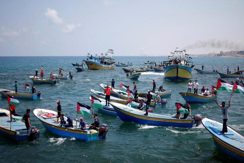 رژیم صهیونیستی محدوده ماهیگیری نوار غزه را کاهش داد