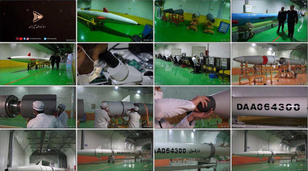 کلیپ رونمایی از موشک دزفول و کارخانه زیرزمینی تولید موشکهای نقطه زن سپاه پاسداران
