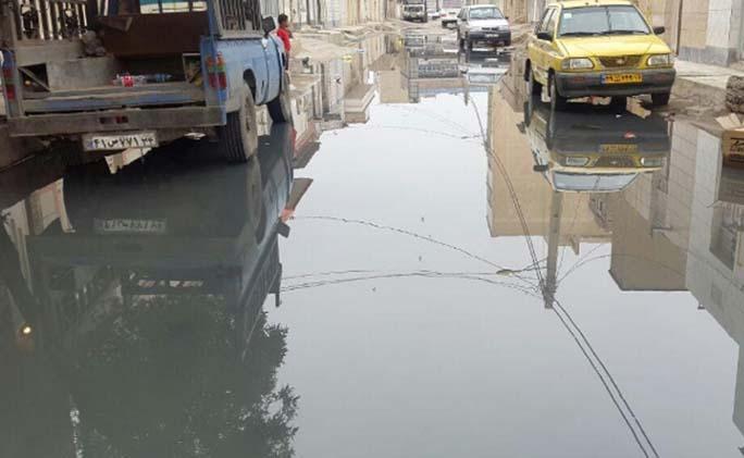خیابان یا دریاچه فاضلاب! + فیلم