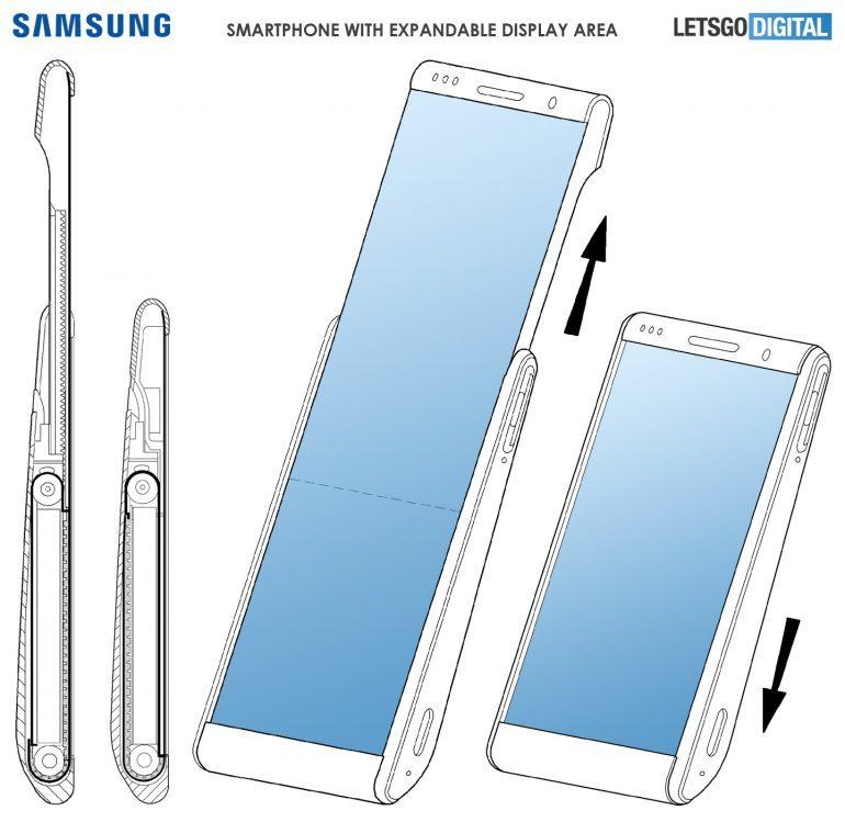 طراحی اولیه تلفن همراه رولی منعطف سامسونگ منتشر شد +تصویر