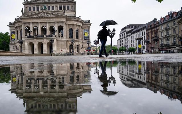 تصاویر روز: از ویترین عجیب یک عینک فروشی در آلمان تا برداشت گندم با تراکتور در چین