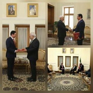 سفیر جدید چین با ظریف دیدار کرد