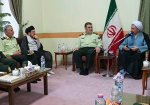 دیدار فرمانده ناجا با نماینده ولی فقیه در فارس