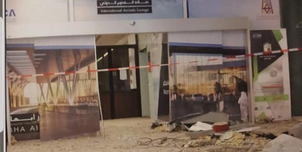 انتشار تصاویری از فرودگاه ابها پس از حمله موشکی نیروهای یمنی