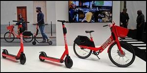 دوچرخه و اسکوترهای الکتریکی ایمنتر در نسل جدی محصولات اوبر