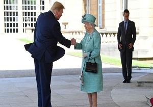 ترامپ: در ۲۵ سال گذشته تا این حد به ملکه انگلیس خوش نگذشته بود