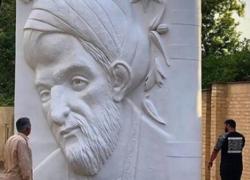 #سعدی/ واکنش طنز کاربران به طراحی و نصب المان سعدی در شیراز