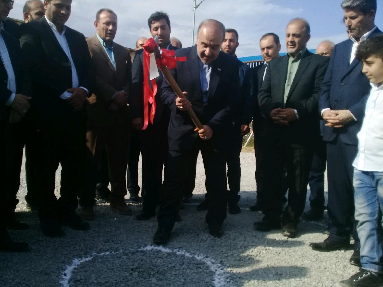 کلنگ احداث خانه جودو استان به زمین زده شد