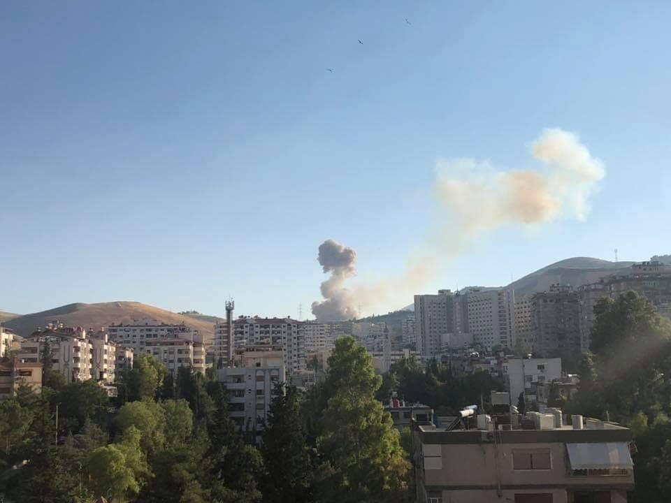 وقوع انفجار شدید در شهر دمشق