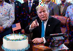 تبریک متفاوت مردم ایران به ترامپ در روز تولدش + فیلم