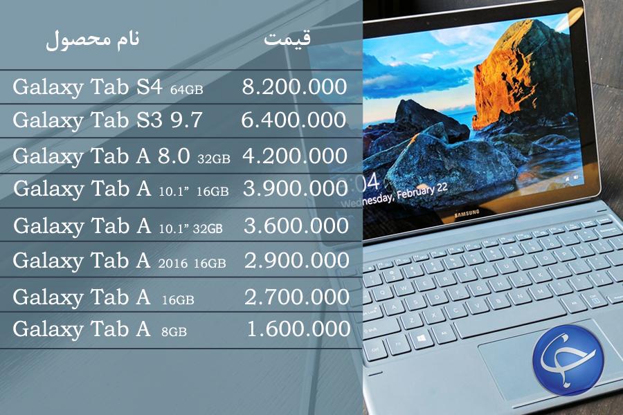 آخرین قیمت انواع تبلت در بازار (تاریخ ۲۶ خرداد) +جدول