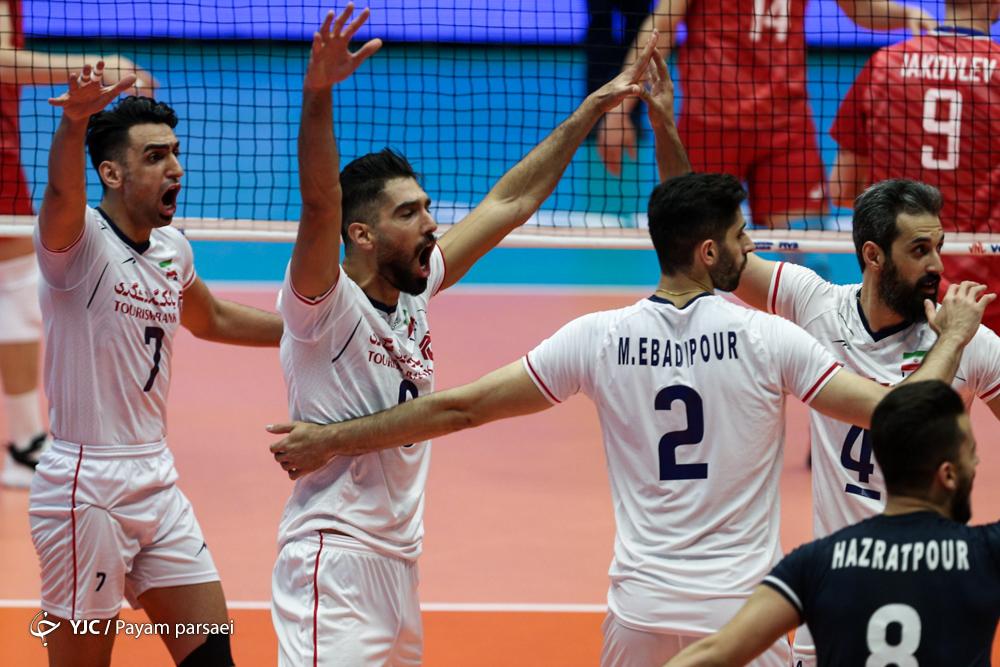 هفته سوم لیگ ملتهای والیبال / گزارش لحظه به لحظه /ایران ۱ - روسیه ۰