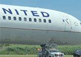 باشگاه خبرنگاران -ترکیدن لاستیک هواپیمای مسافربری در آمریکا + فیلم