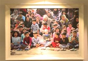 نقاشیتلاش جهادگران در مناطق سیل زده