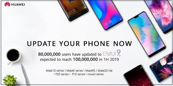 80 میلیون کاربر هوآوی، اندروید 9 را بر روی تلفنهای هوشمند خود نصب کردهاند