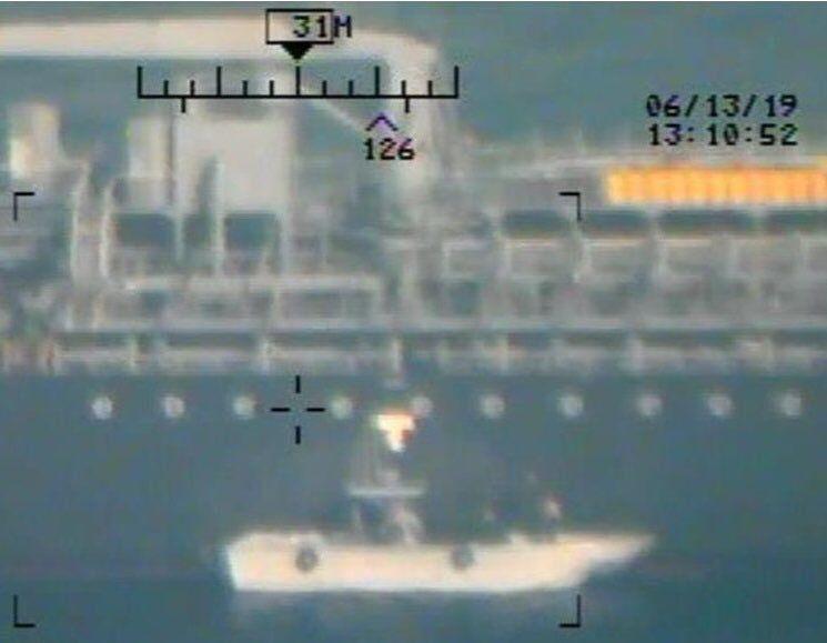 تصاویر جدید آمریکا برای متهم کردن سپاه در قضیه انفجار نفتکشها