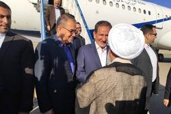 جهانگیری، وارد فرودگاه زنجان شد