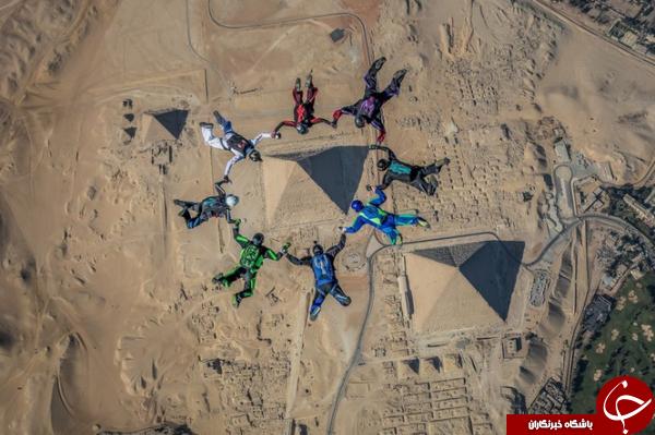 سقوط آزاد دسته جمعی چتربازها در عکس روز نشنال جئوگرافیک