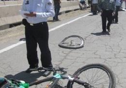 مرگ دوچرخه سوار در جاده اراک