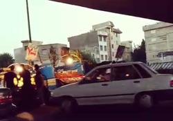 خیابان فدائیان اسلام در تصرف میوه فروشها + فیلم