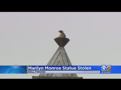 مجسمه یاد بود مرلین مونرو دزدیده شد