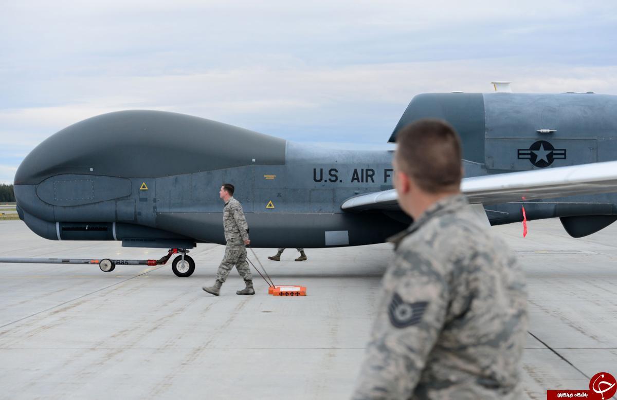 تصاویری از پهپاد غول پیکر جاسوسی آمریکا که سرنگون شد