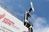 حمل مشعل المپیک اروپایی ۲۰۱۹ توسط یک ربات