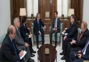 دیدار فرستاده ویژه رئیس جمهور روسیه در امور سوریه با بشار اسد