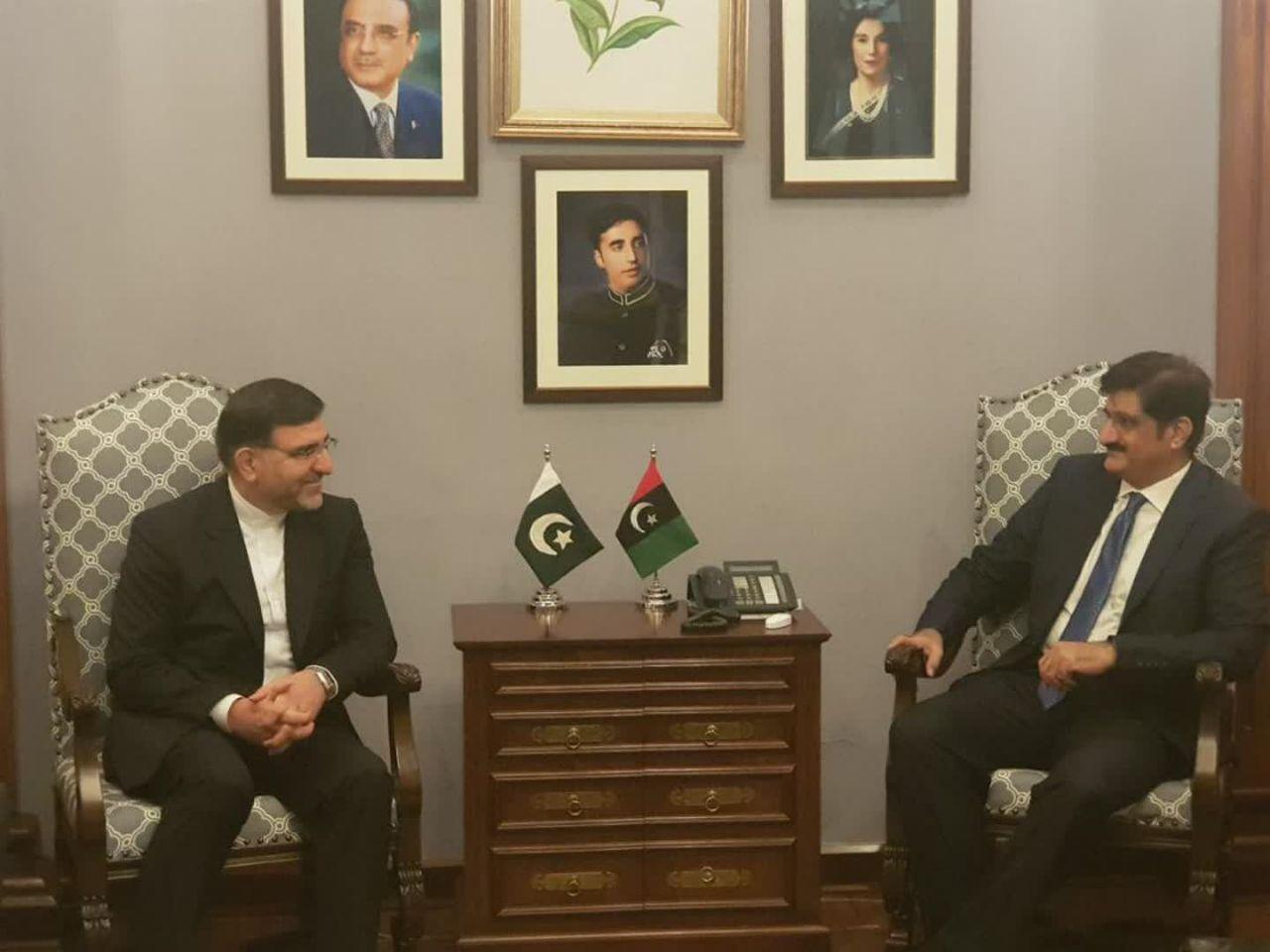 دیدار هیئت پارلمانی ایران با سروزیر و رئیس مجلس ایالت سند