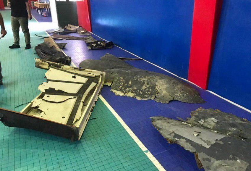 قطعات پهپاد شکارشده آمریکایی توسط سپاه به نمایش درآمد