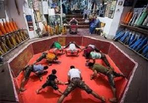 آیین تجلیل از ورزشکاران زورخانهای در قم برگزار شد