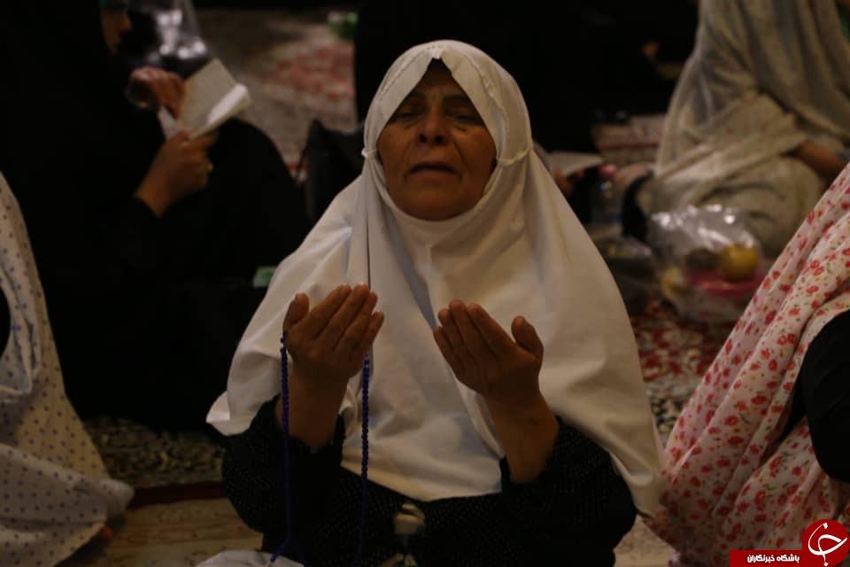 نوای الغوث الغوث در فارس طنین انداز شد/مراسم شب قدر در سومین حرم اهل بیت (ع) + تصاویر