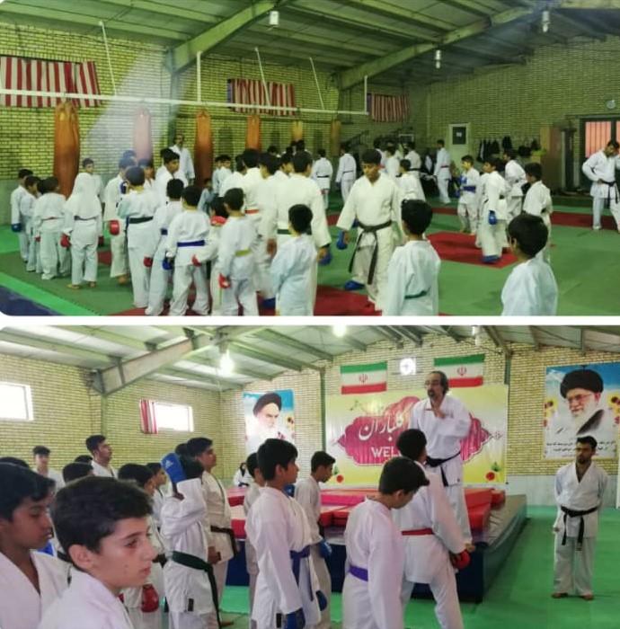 اردوی کاراته کاران نونهال و نوجوان استان بوشهر برگزار شد