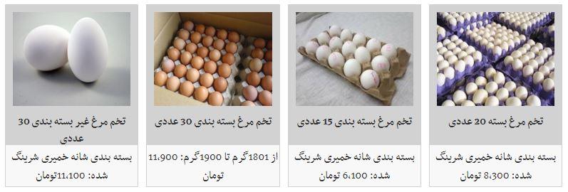 کاهش قیمت تخم مرغ در بازار