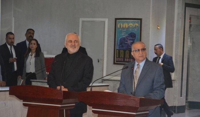 در سفر بغداد؛ ظریف: پیشنهاد ایران برای امضای پیمان عدم تعرض با کشورهای منطقه رویمیز است