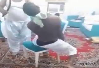 شکنجه دردناک کارگر آفریقایی توسط ارباب سعودی + فیلم