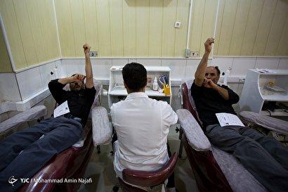 اهدای خون در شب ۲۱ رمضان