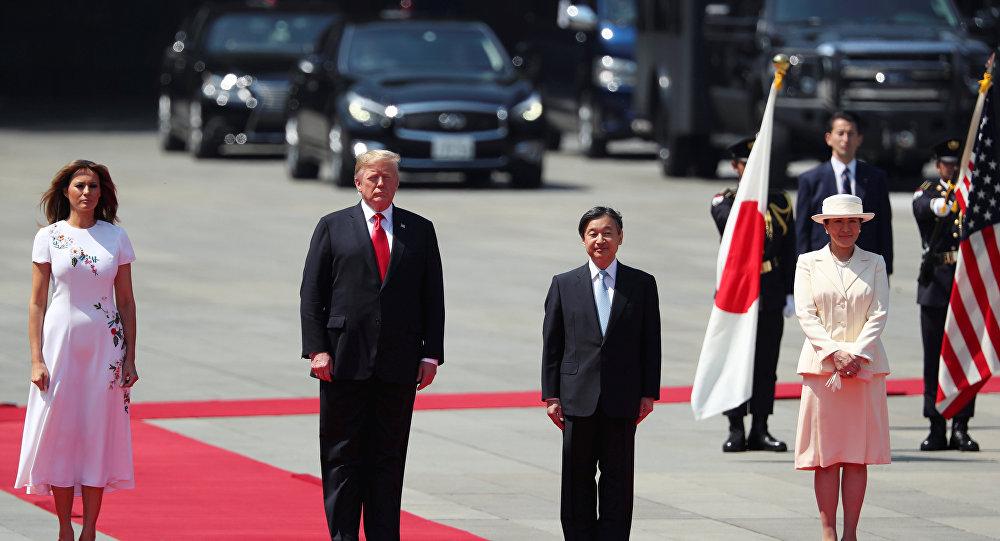 ترامپ نخستین مقام خارجی است که با امپراتور جدید ژاپن دیدار میکند