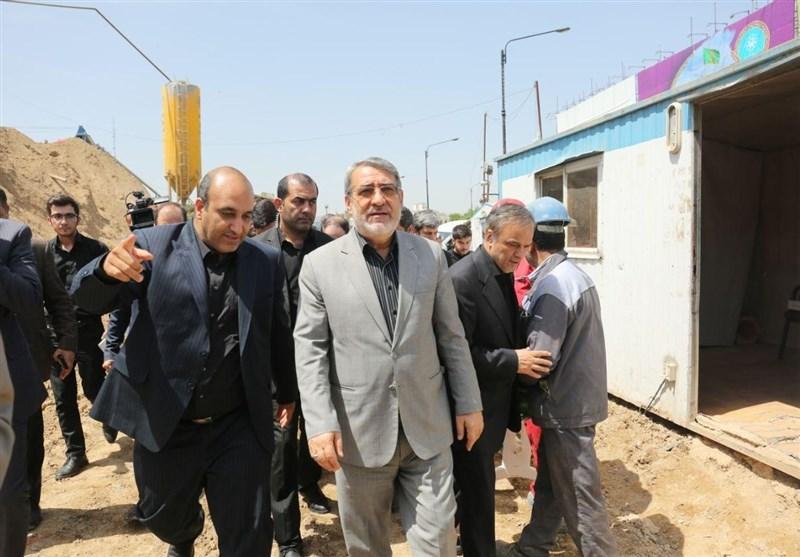 وزیر کشور از خطوط قطار شهری مشهد بازدید کرد+تصاویر