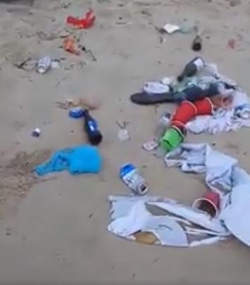 جمع آوری ۱۰ تن زباله از سواحل ویرجینیا پس از پایان روز یادبود+ تصاویر