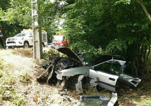 یک کشته و یک مصدوم در حادثه تصادف در علی آبادکتول