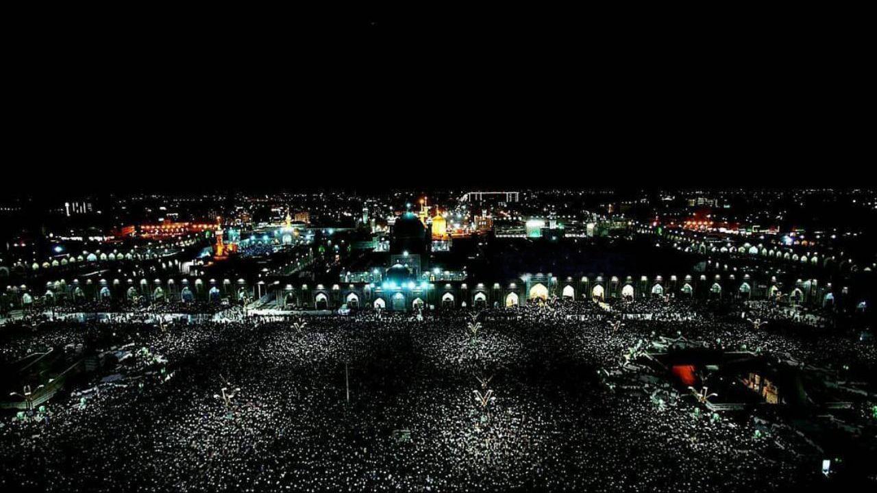 تصویری خارق العاده از سومین شب قدر در حرم امام رضا (ع)