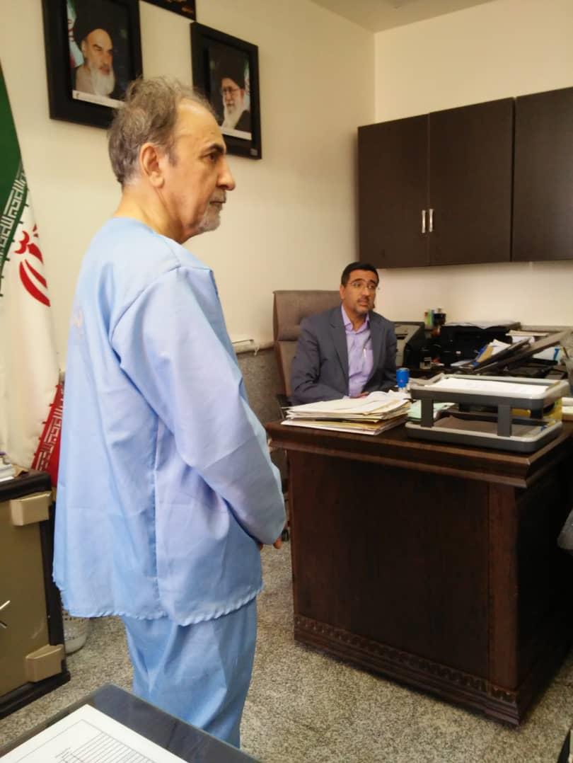 نجفی برای ادای توضیحات به دادسرای جرایم جنایی تهران منتقل شد + عکس