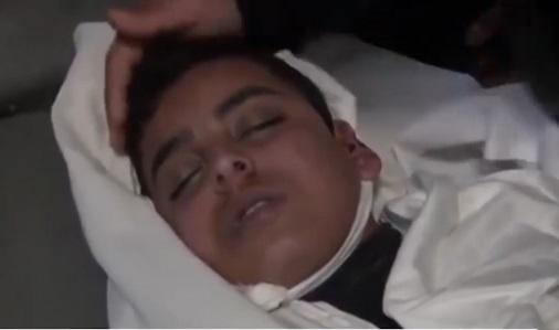 سخنان جانسوز پدر شهید ۱۴ ساله فلسطینی +فیلم