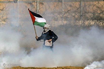 حمله صهیونیستها به راهپیمایی غزه
