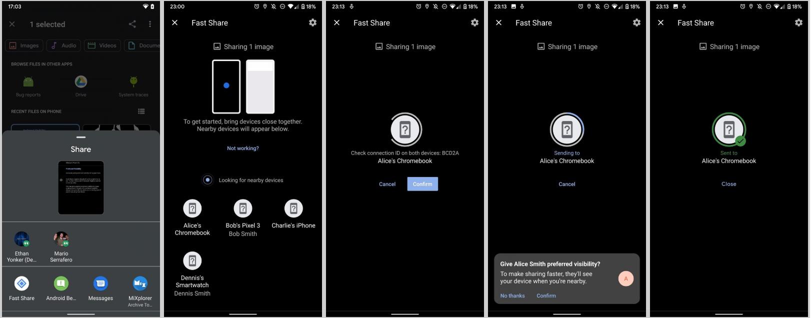 معرفی Fast Share، سرسختترین رقیب اندرویدی AirDrop به وسیله گوگل