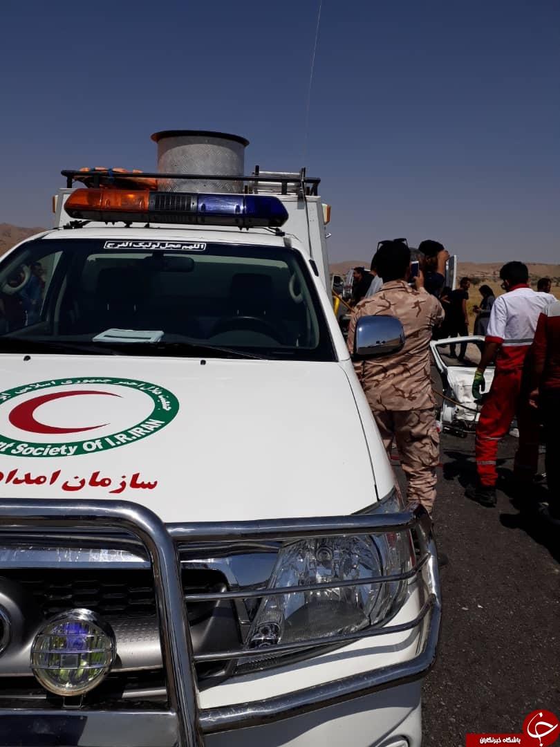 ۱۱ کشته و زخمی در محور لار – جهرم + تصاویر