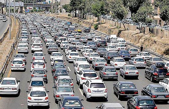 وضعیت ترافیک معابر بزرگراهی تهران در پانزدهمین روز تیرماه